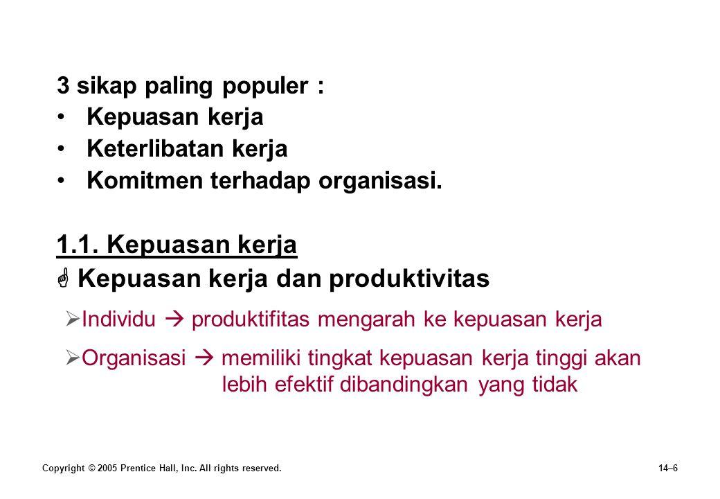  Kepuasan kerja dan produktivitas