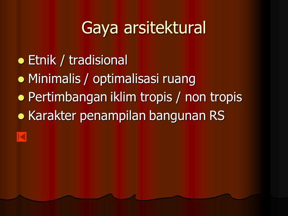 Gaya arsitektural Etnik / tradisional Minimalis / optimalisasi ruang