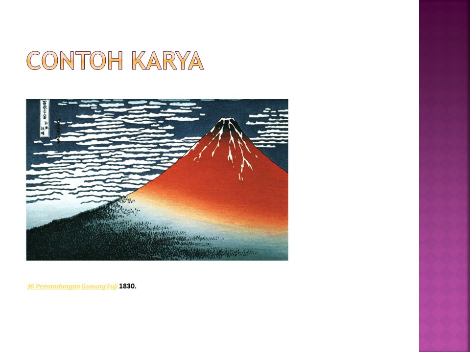 Contoh karya 36 Pemandangan Gunung Fuji 1830.