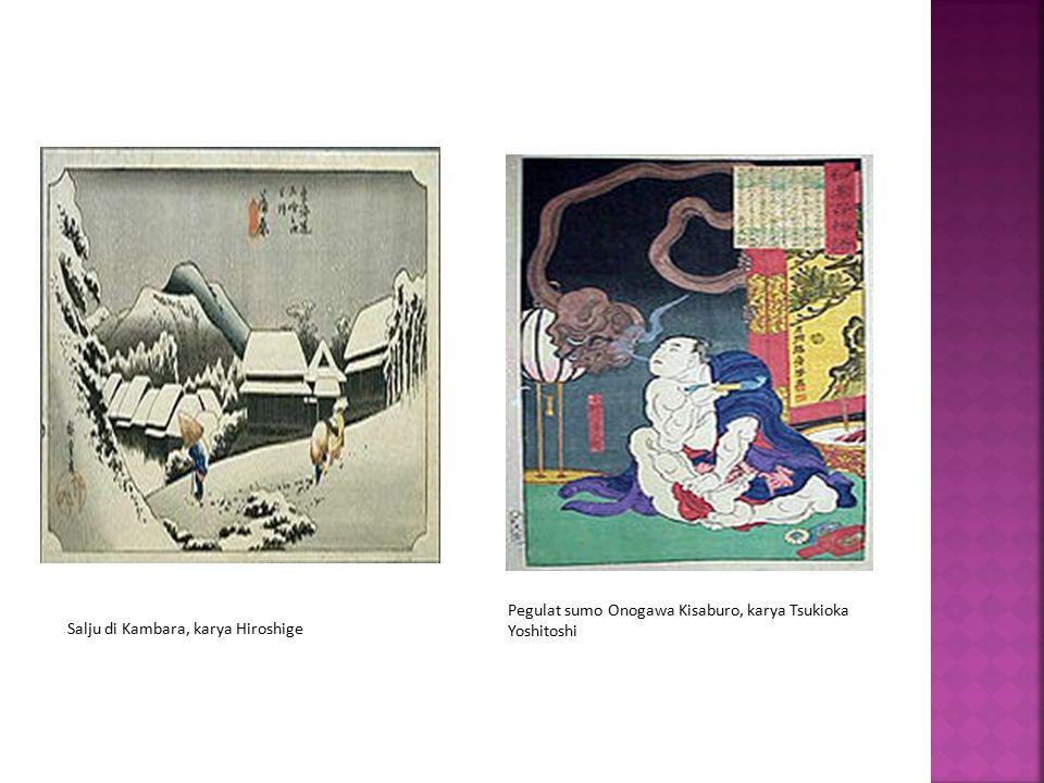 Pegulat sumo Onogawa Kisaburo, karya Tsukioka Yoshitoshi