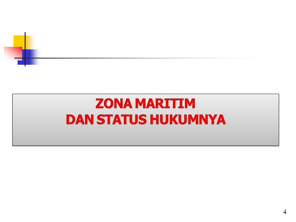 ZONA MARITIM DAN STATUS HUKUMNYA