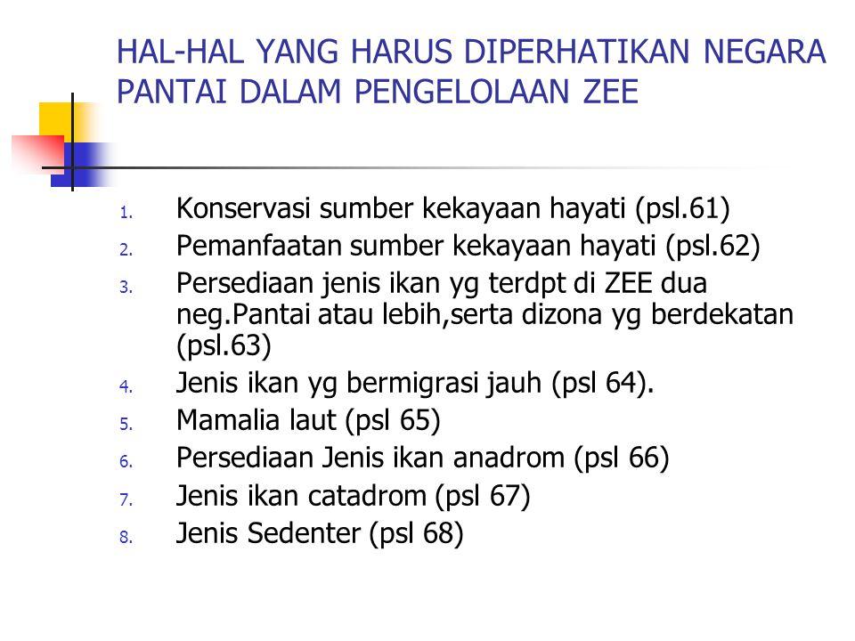 HAL-HAL YANG HARUS DIPERHATIKAN NEGARA PANTAI DALAM PENGELOLAAN ZEE