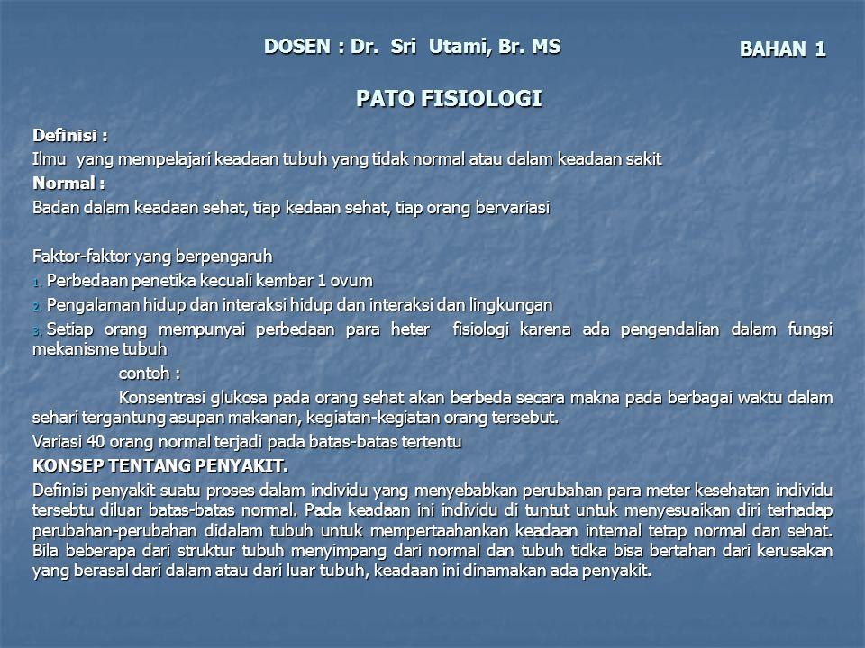 DOSEN : Dr. Sri Utami, Br. MS