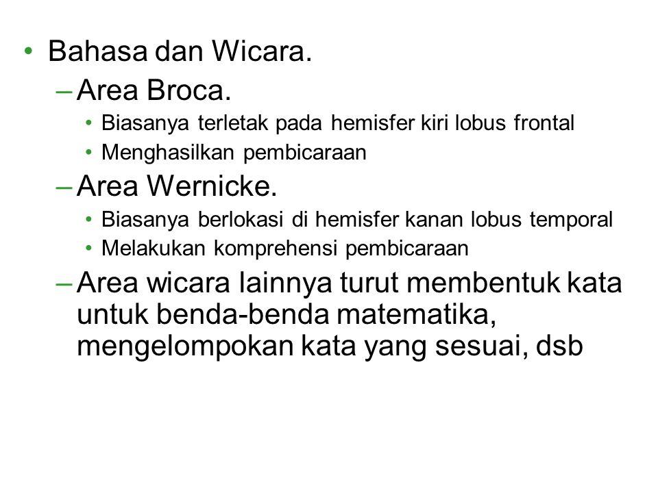 Bahasa dan Wicara. Area Broca. Area Wernicke.