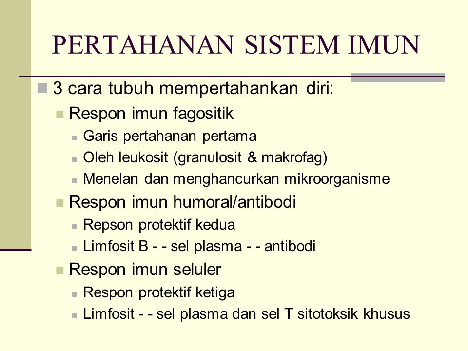PERTAHANAN SISTEM IMUN