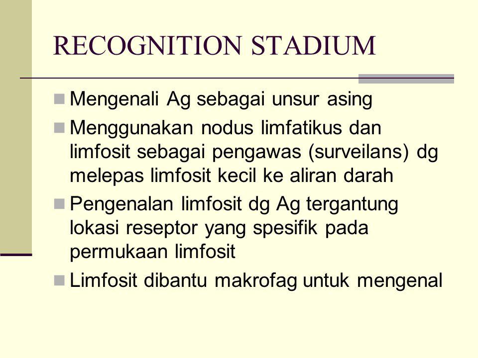 RECOGNITION STADIUM Mengenali Ag sebagai unsur asing