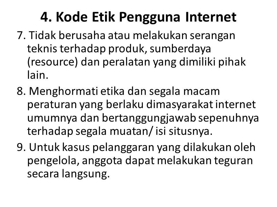 4. Kode Etik Pengguna Internet