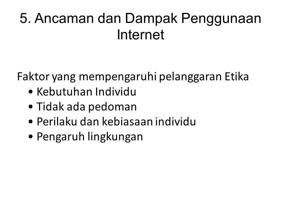 5. Ancaman dan Dampak Penggunaan Internet
