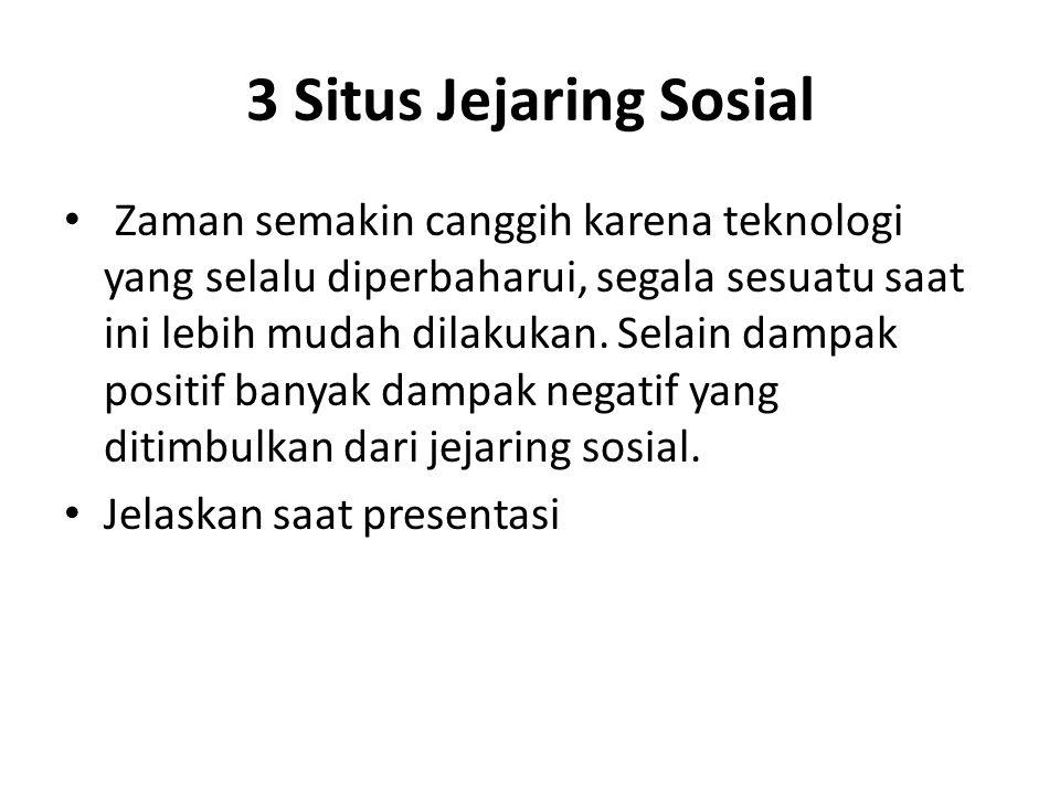 3 Situs Jejaring Sosial