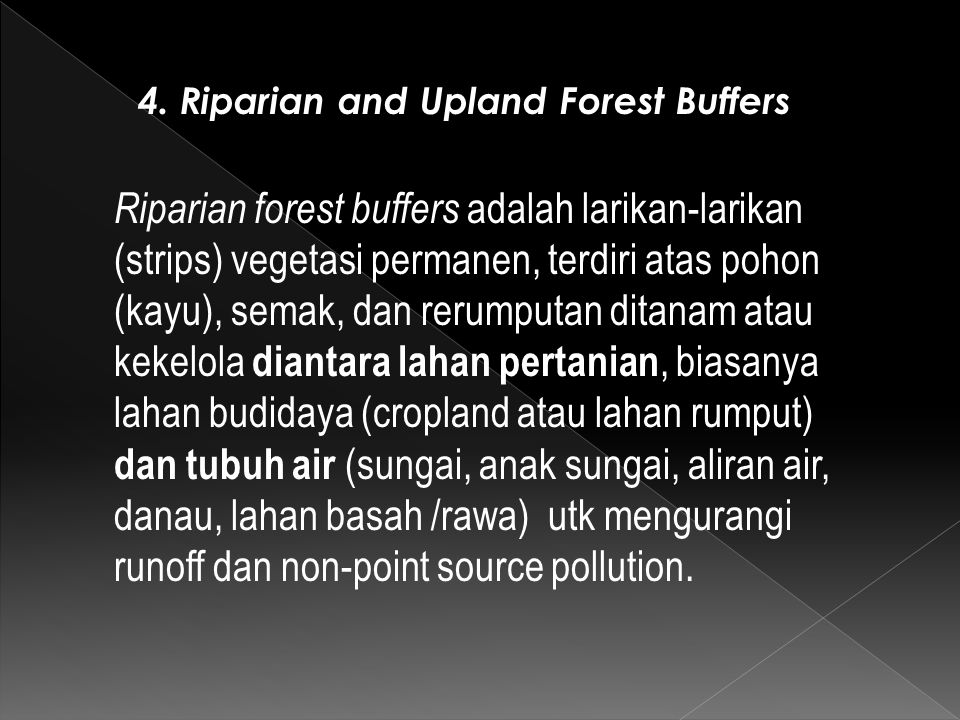 4. Riparian and Upland Forest Buffers