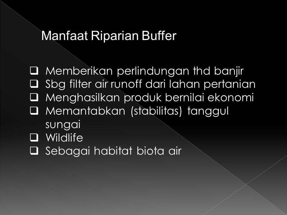 Manfaat Riparian Buffer