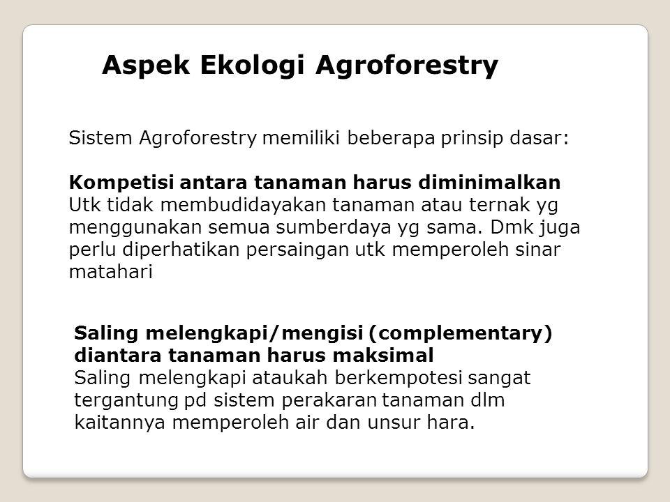 Aspek Ekologi Agroforestry