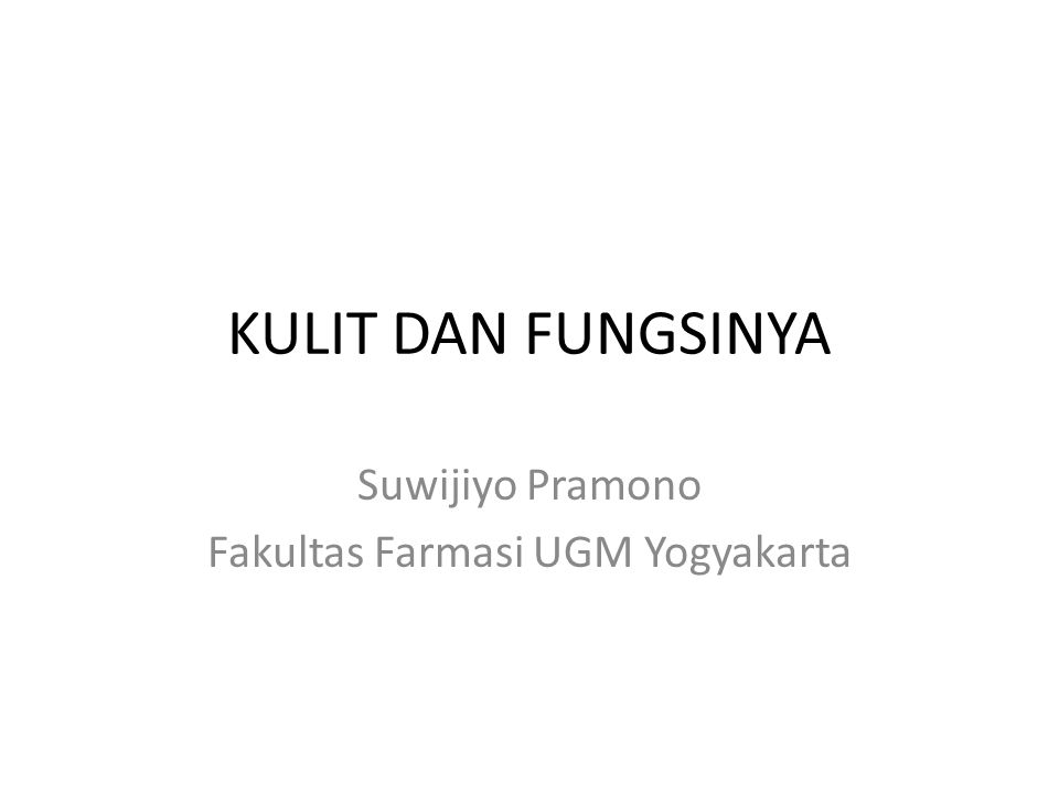 Suwijiyo Pramono Fakultas Farmasi UGM Yogyakarta