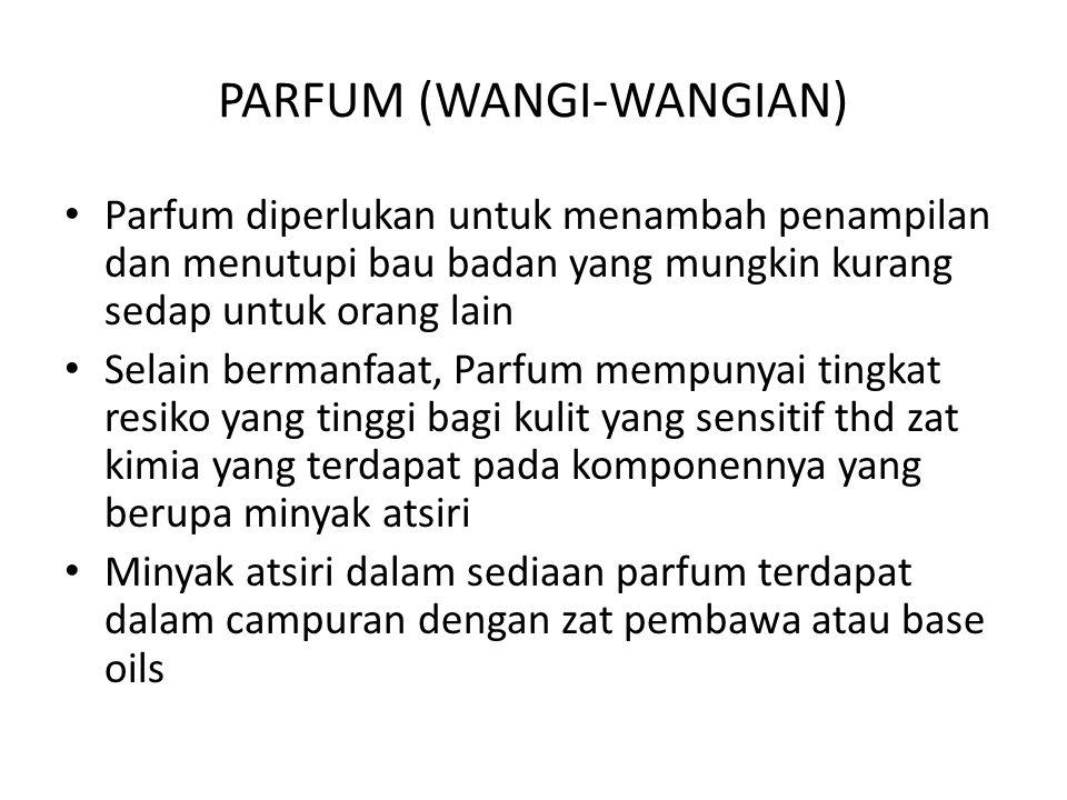 PARFUM (WANGI-WANGIAN)