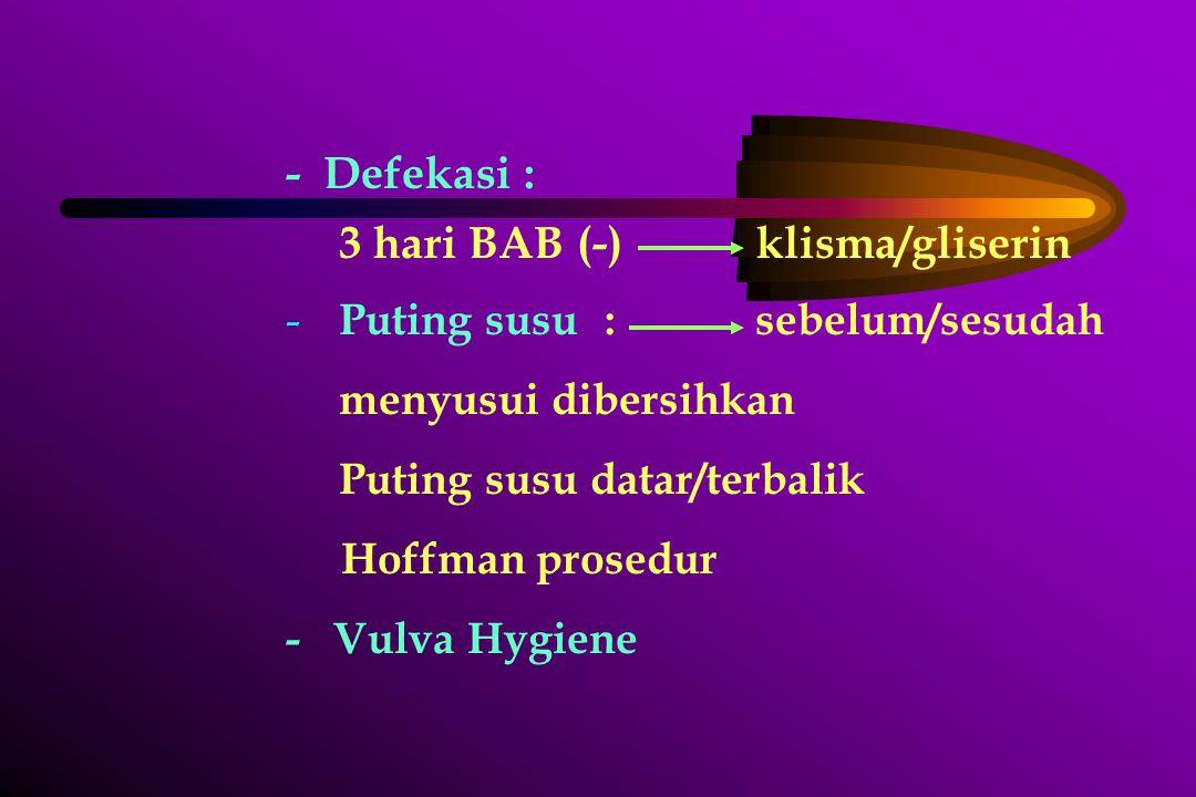 3 hari BAB (-) klisma/gliserin