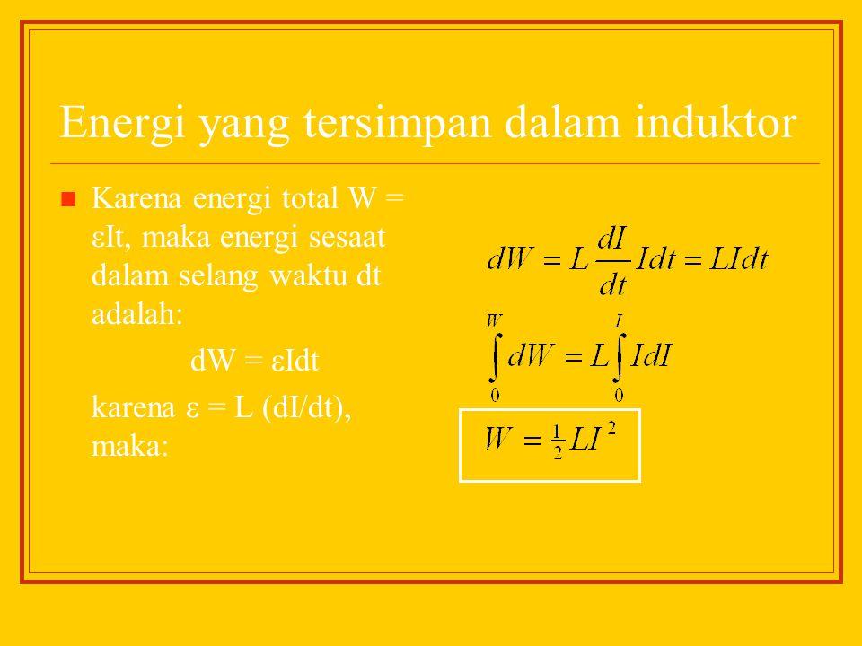 Energi yang tersimpan dalam induktor