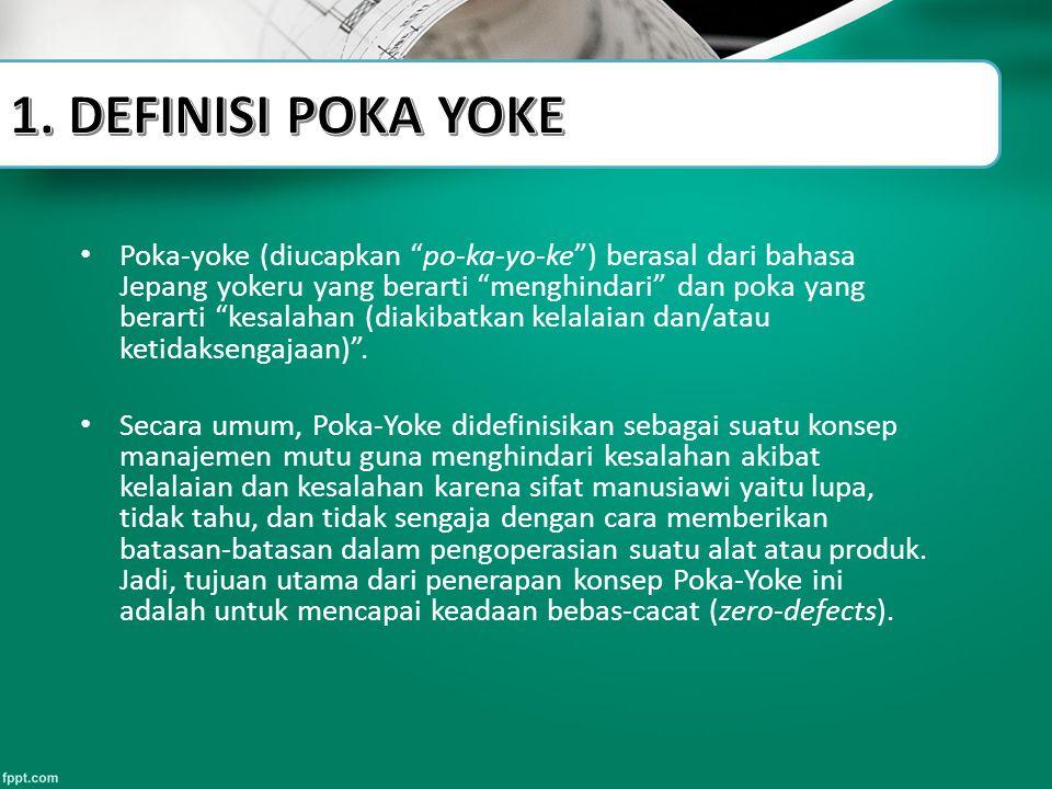 1. DEFINISI POKA YOKE