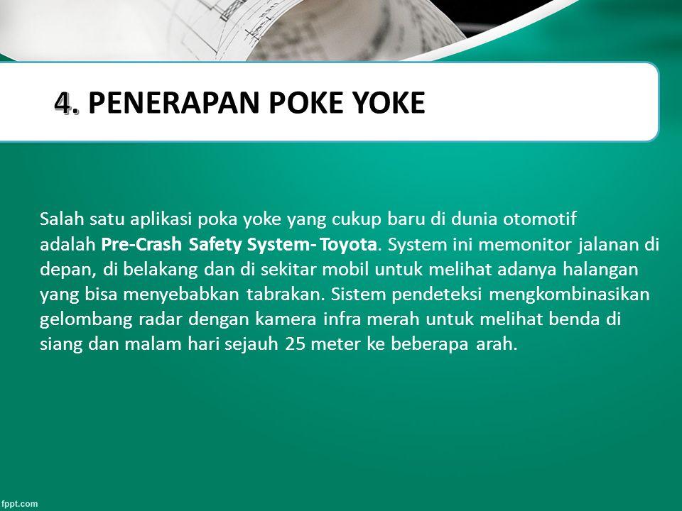 4. PENERAPAN POKE YOKE Slide Title