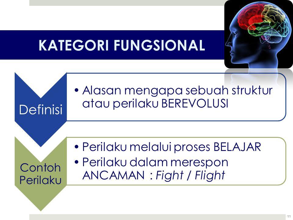 KATEGORI FUNGSIONAL Definisi Contoh Perilaku