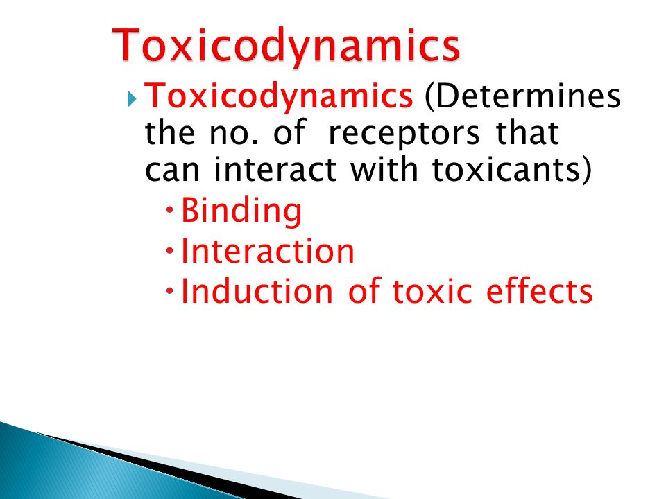 Induction of toxic effects
