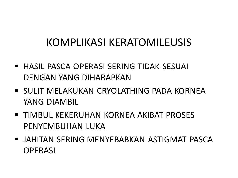 KOMPLIKASI KERATOMILEUSIS