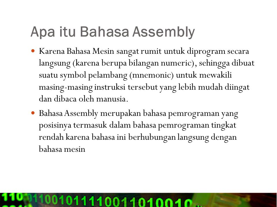 Apa itu Bahasa Assembly