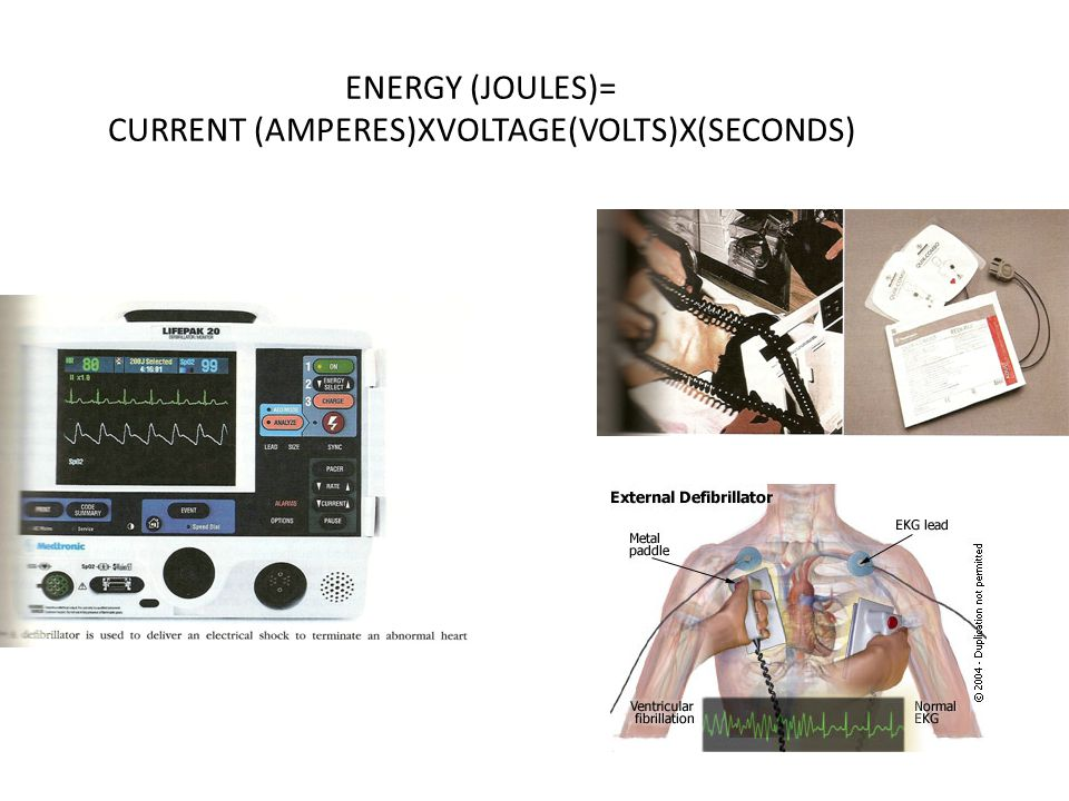 ENERGY (JOULES)= CURRENT (AMPERES)XVOLTAGE(VOLTS)X(SECONDS)