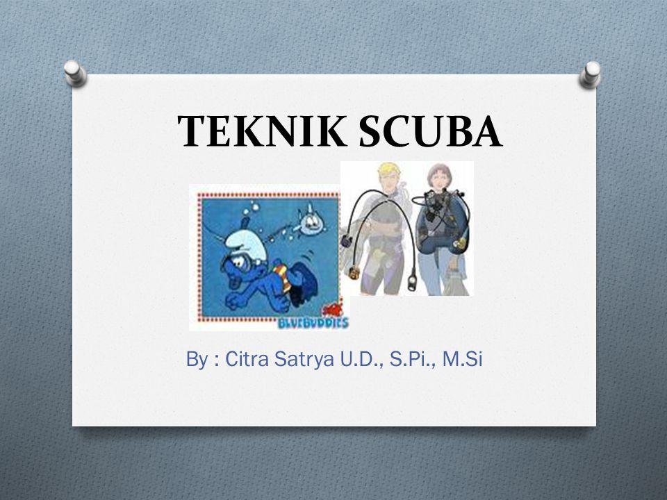 By : Citra Satrya U.D., S.Pi., M.Si