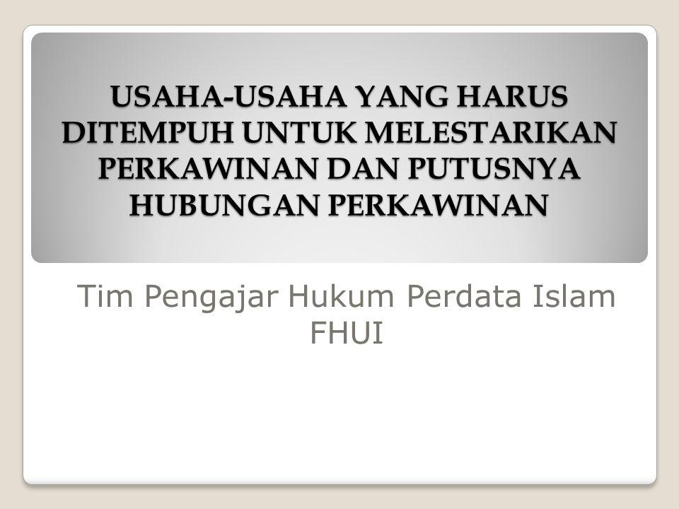 Tim Pengajar Hukum Perdata Islam FHUI