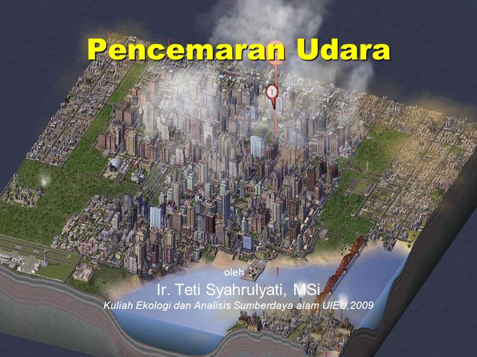 Pencemaran Udara Ir. Teti Syahrulyati, MSi oleh :