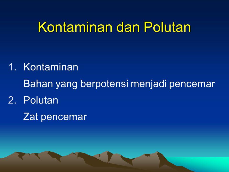 Kontaminan dan Polutan