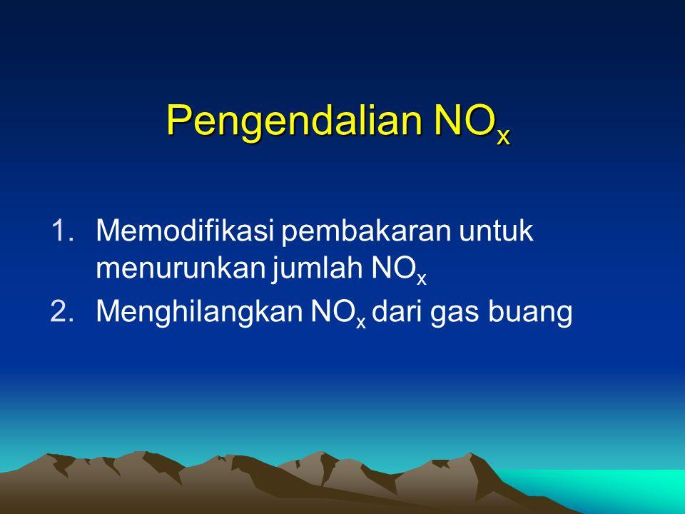 Pengendalian NOx Memodifikasi pembakaran untuk menurunkan jumlah NOx