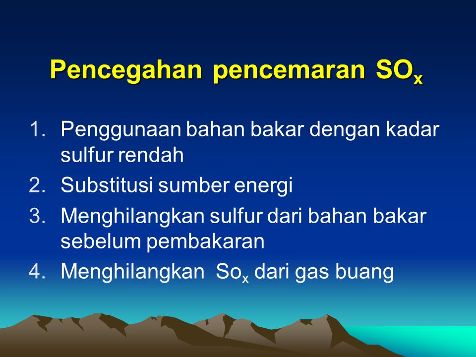 Pencegahan pencemaran SOx