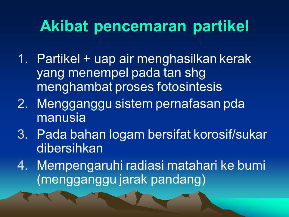 Akibat pencemaran partikel
