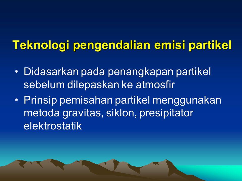 Teknologi pengendalian emisi partikel