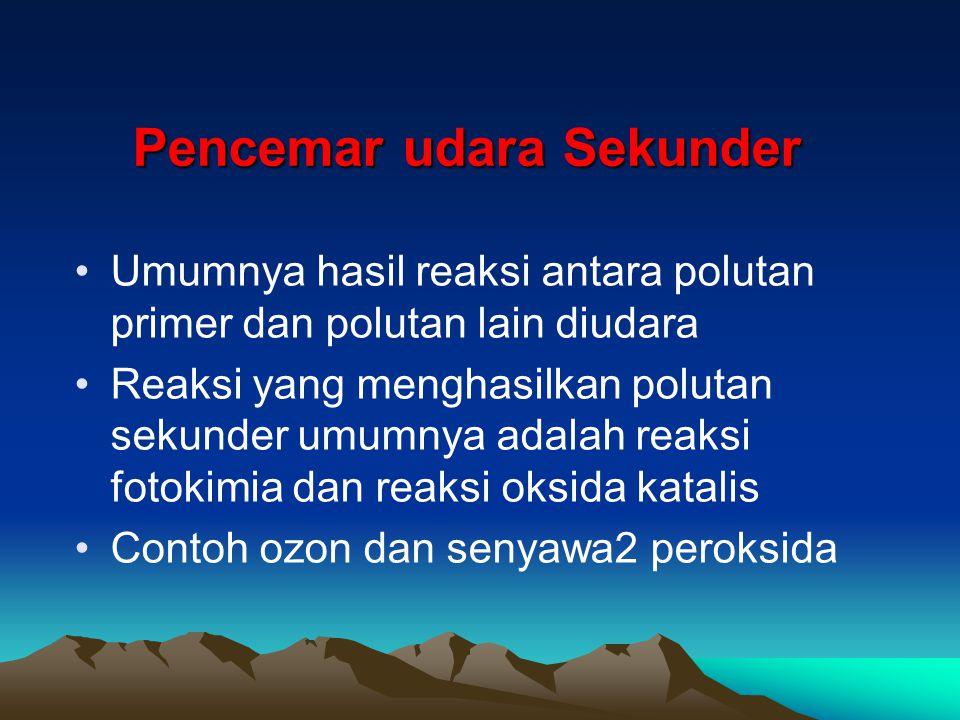 Pencemar udara Sekunder