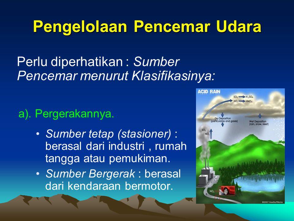 Pengelolaan Pencemar Udara
