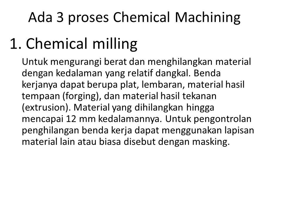 Ada 3 proses Chemical Machining