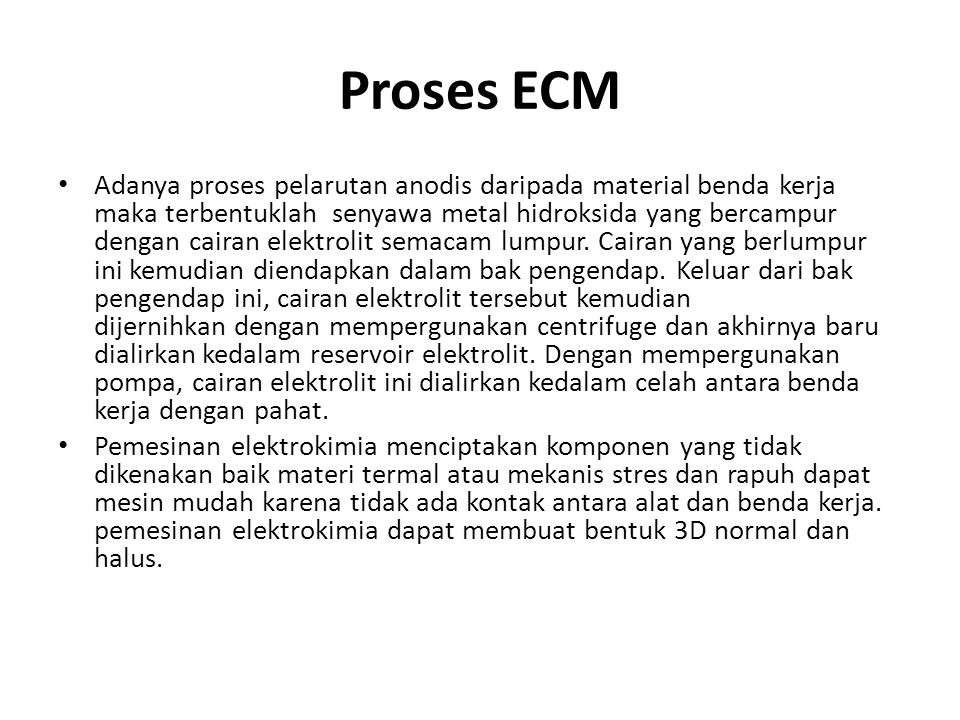 Proses ECM