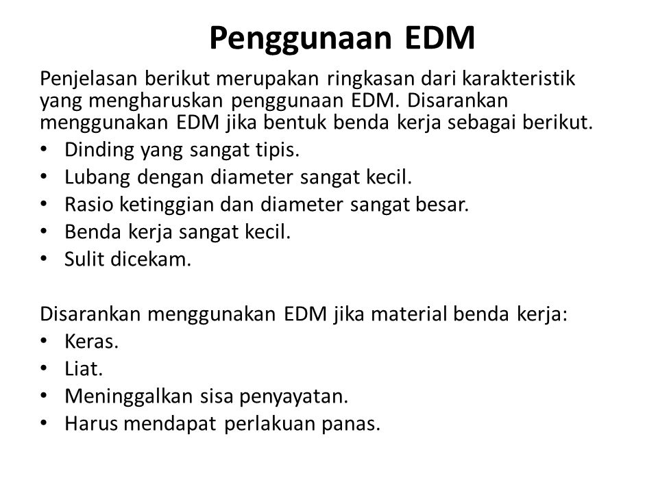 Penggunaan EDM