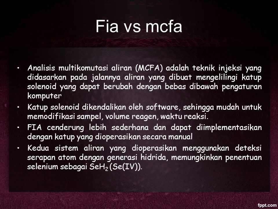 Fia vs mcfa