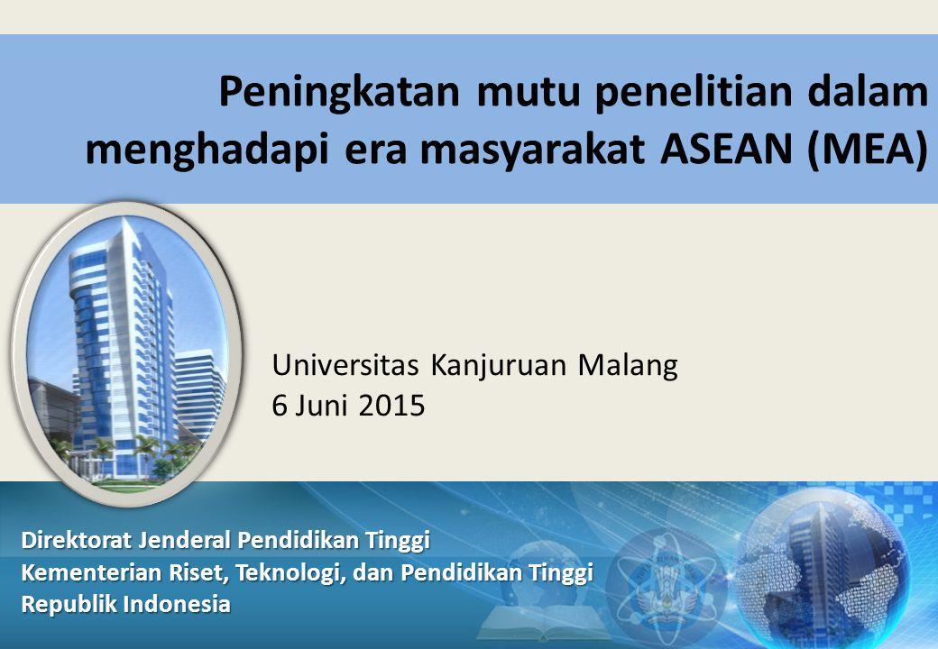 Peningkatan mutu penelitian dalam menghadapi era masyarakat ASEAN (MEA)