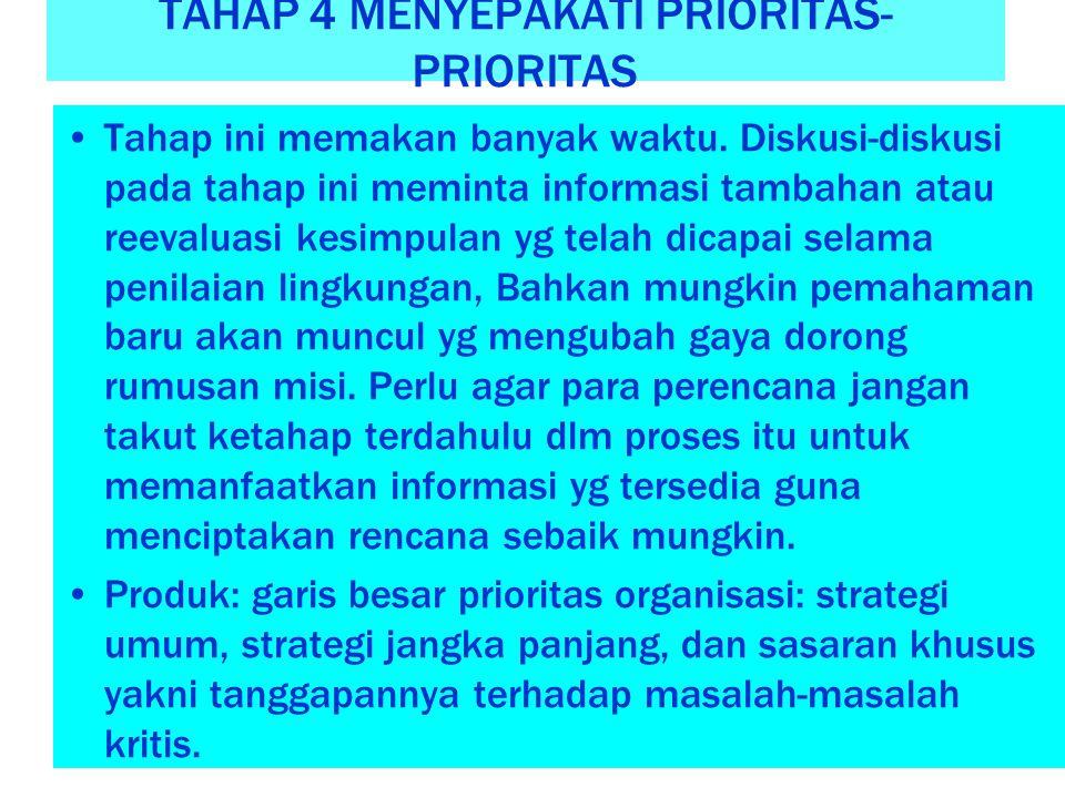 TAHAP 4 MENYEPAKATI PRIORITAS-PRIORITAS