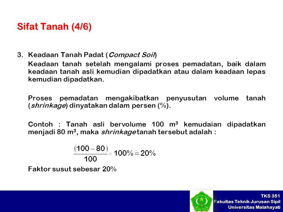 Sifat Tanah (4/6) 3. Keadaan Tanah Padat (Compact Soil)