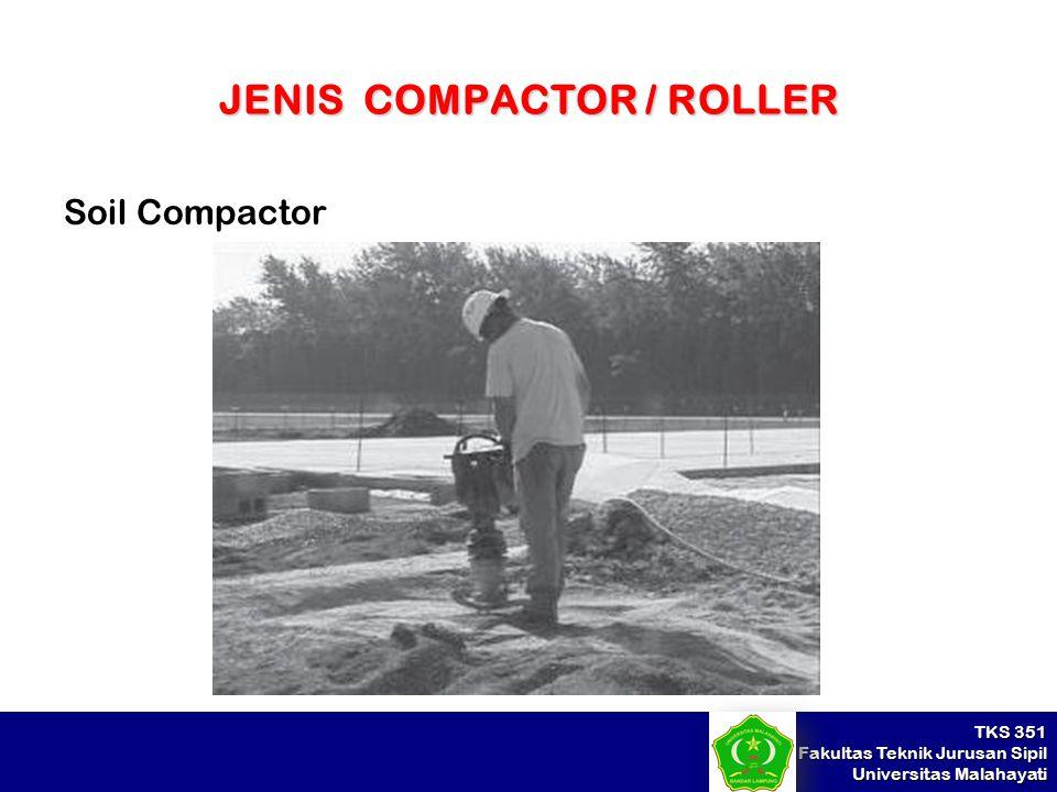 JENIS COMPACTOR / ROLLER