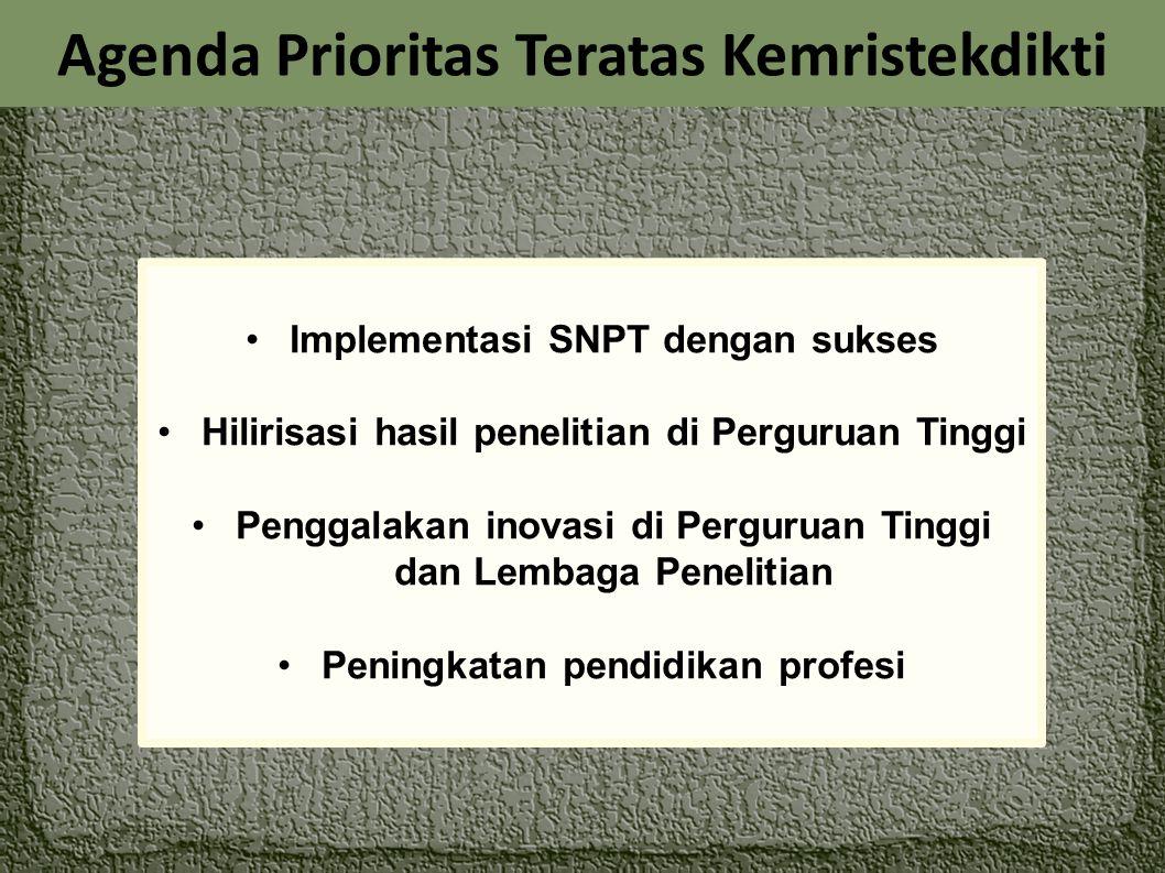 Agenda Prioritas Teratas Kemristekdikti