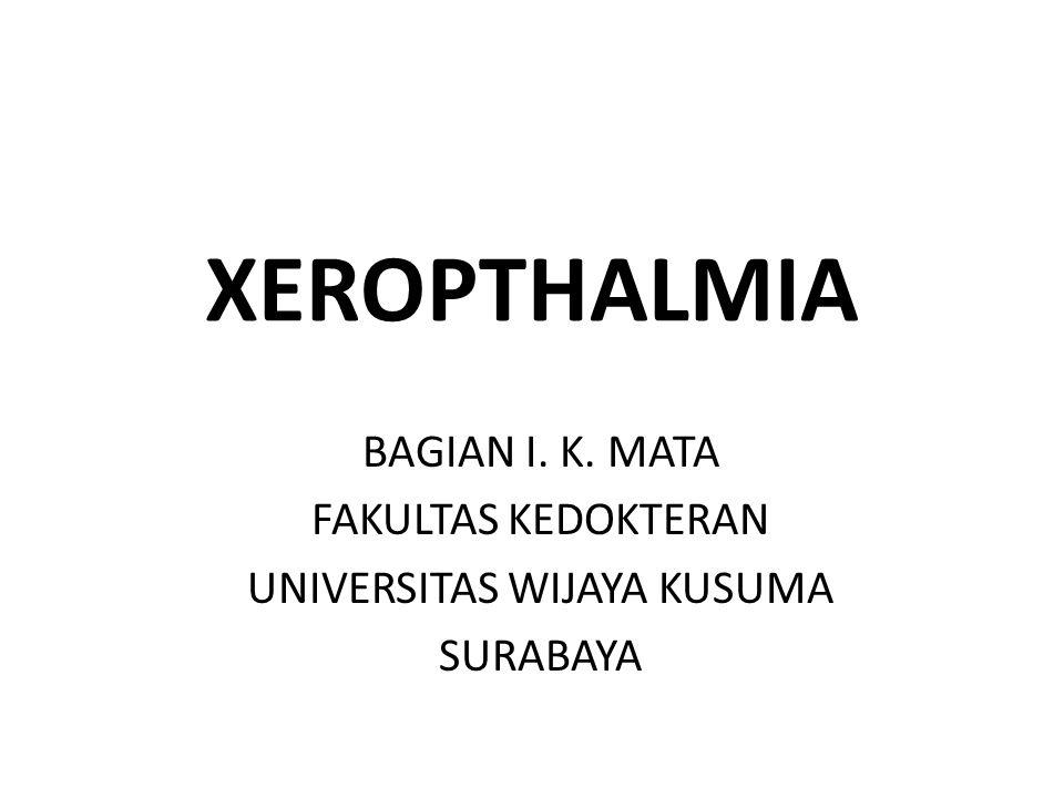 XEROPTHALMIA BAGIAN I. K. MATA FAKULTAS KEDOKTERAN UNIVERSITAS WIJAYA KUSUMA SURABAYA
