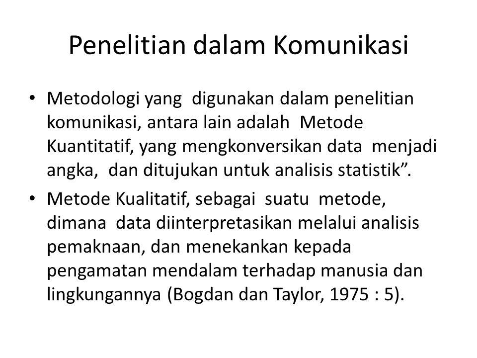 Penelitian dalam Komunikasi