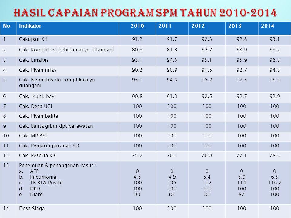 HASIL CAPAIAN PROGRAM SPM TAHUN 2010-2014