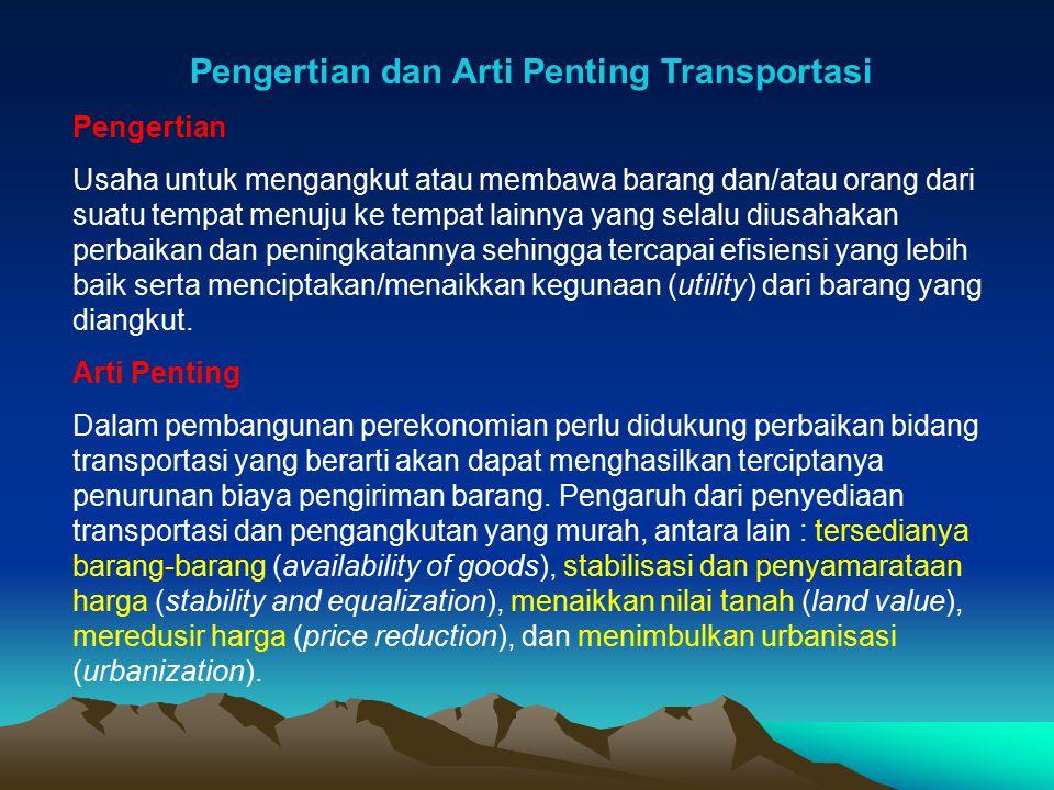 Pengertian dan Arti Penting Transportasi